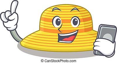 sombrero, verano, teléfono, oratoria, amigos, caricatura, carácter