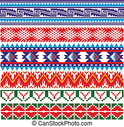 Some ancient american pattern - Vector image of ancient...