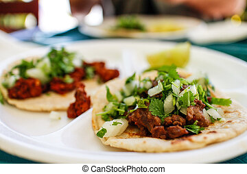 authentic Mexican beef tacos in LA eatery