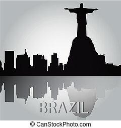 rio de janeiro - some black silhouettes from the buildings...
