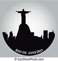 rio de janeiro - some black silhouettes of the buildings...