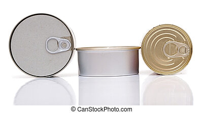 Some Cans isolated on white background