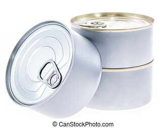 Some Cans isolated on white