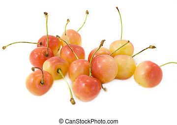 cherries - some cherries isolated on white