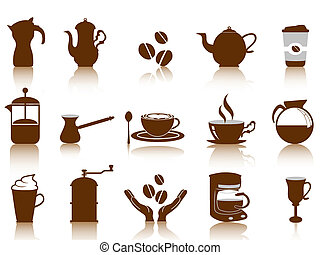 some coffee icon set for design