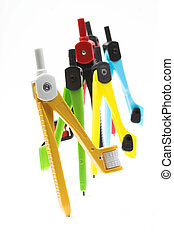 drawing-compasses - Some color plastic drawing-compasses...