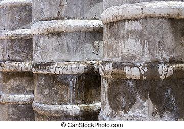 Some concrete tubes