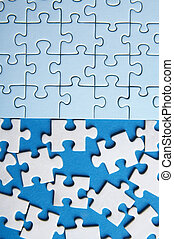 connected - some connected puzzle pieces and some lost...