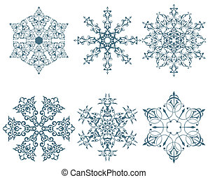 winter snowflakes - some designs of winter snowflakes