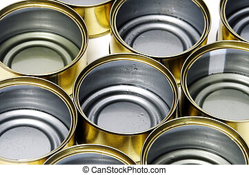 cans - some empty cans isolated on a white background