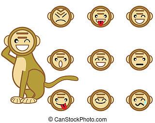 funny monkey face