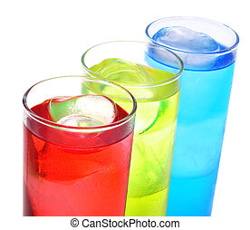 cocktails - some glasses with cocktails of different colors ...