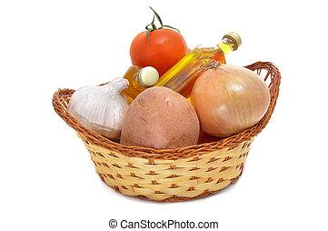 mediterranean diet - some ingredients of mediterranean diet ...