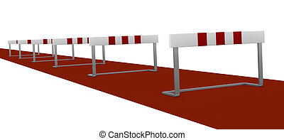 obstacle - some obstacles, concept of difficulty or problem...