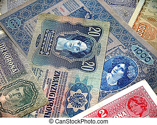 old notes of the Austro-Hungarian