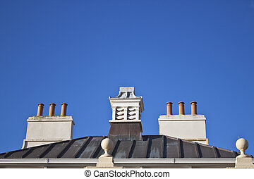 old style chimney pots