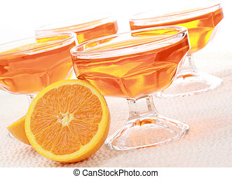 orange jelly dessert