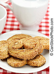 palmier pastries made with spelt flour