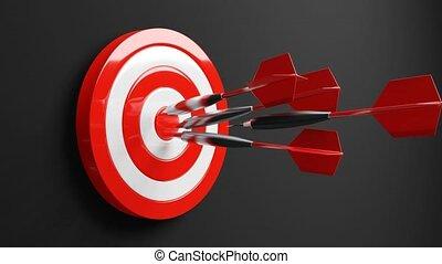 Some red dart arrows hit target.