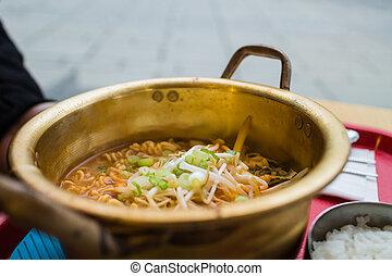 Korean ramen soup - some spicy Korean ramen soup