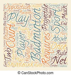 Some Tips For Badminton text background wordcloud concept