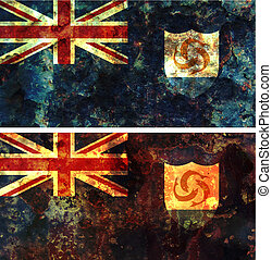some very old grunge flag of anguilla