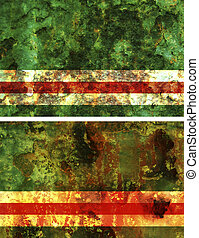chechen republic - some very old grunge flag of chechen...