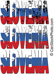 slovenia - some very old grunge flag of slovenia made of...