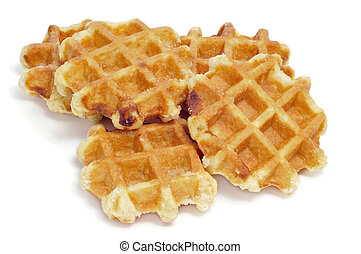 waffles - some waffles on a white background