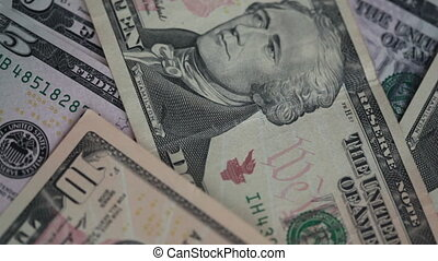Somebody is counting dollars bills close-up. FullHD video