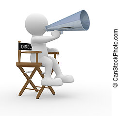Someone - 3d render of someone with a megaphone - This is a...