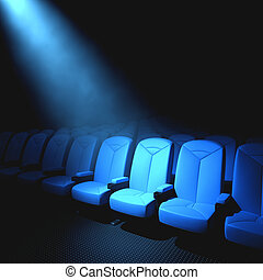 Someone Important - Spotlight on an empty chair. Concept of...