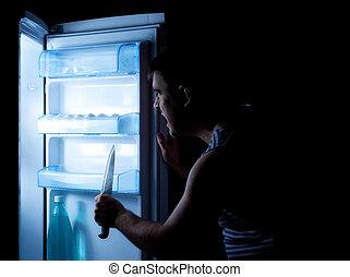 something horrible hiding in refrigerator