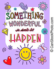 Something Wonderful Occasion Poster - Cartoon whimsical...