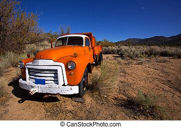 somewhere, vendemmia, california, camion, deserto