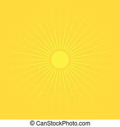 sommar, bakgrund., sol, symbol, bakgrund, apelsin, över, ikon