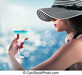 sommar, cocktail