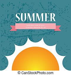 sommar, försäljning, /, vektor, design, bakgrund, broschyr