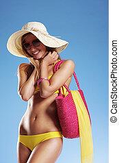 sommar ferier, kvinna
