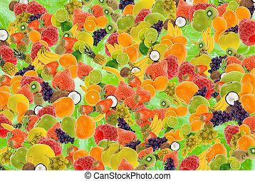 sommar frukt, bakgrund