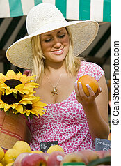 sommar frukt, marknaden