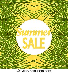 sommar, palm., försäljning, bakgrund, brochure.