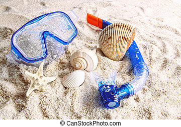 sommar, sand strand, toys
