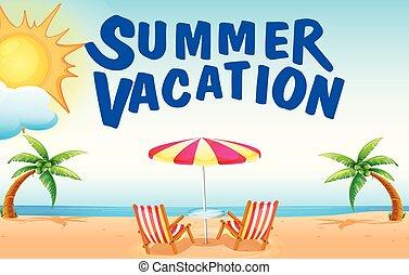 sommar semester på stranden