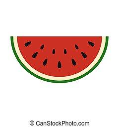 sommar, skiva, vattenmelon, saftig