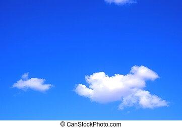 sommar, sky