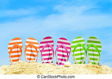 sommar, strand
