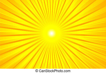 sommar, varm, lysande, sol