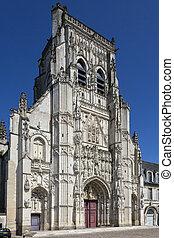 somme, -, 修道院, フランス, riquier, st.
