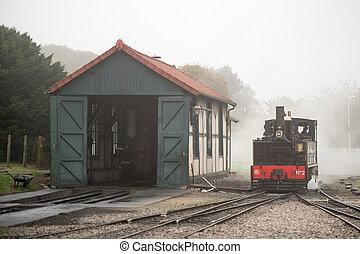 somme, 列車, 蒸気, 湾